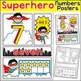 Numbers Posters & Comic Book Number Sense Worksheets - Superhero Theme