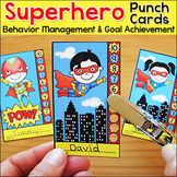 Superhero Theme Behavior Punch Cards - Goal Setting and Tracking Motivation Tool