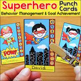 Superhero Theme Behavior Punch Cards - Goal Setting and Tracking Motivation Tool