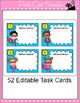 Editable Task Cards Template - Superhero Theme