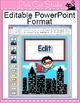 Superhero Theme Editable Labels & Templates - Superhero Classroom Theme Decor