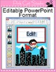 Superhero Theme Labels and Templates - Back to School Decor