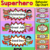 Behavior Chart - Superhero Theme Behavior Clip Chart