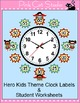 Telling Time Clock Labels - Superhero Theme - Back to Scho