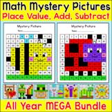 Place Value, Addition and Subtraction Hundreds Chart Bundl