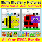 Place Value, Addition & Subtraction Hundreds Chart - Winter & Christmas Math