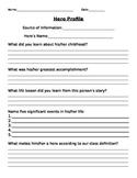 Hero Profile Worksheet