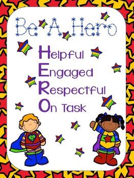 Hero Theme Classroom Expectations