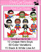 Superhero Theme Clip Art - Product Creation Kit