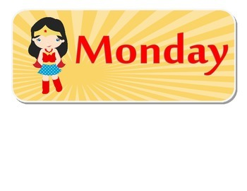 Hero Theme Days of the Week