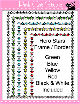 Borders - Superhero Theme Frames / Borders Clip Art – Personal or Commercial Use