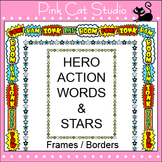 Superhero Theme Frames / Borders Clip Art – Page Borders and Frames