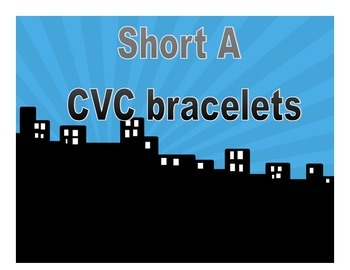 Hero Theme Short  A CVC Bracelets (SHORT TIME ONLY!)  FREE FREE FREE