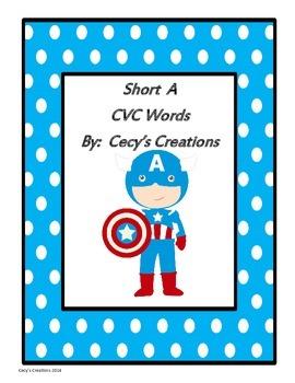 Hero Theme (Short A) CVC Words