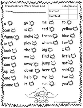 photograph regarding Printable Sight Word Activities referred to as Printable Sight Term Functions-Superhero Themed