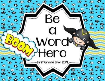 Printable Sight Word Activities-Superhero Themed