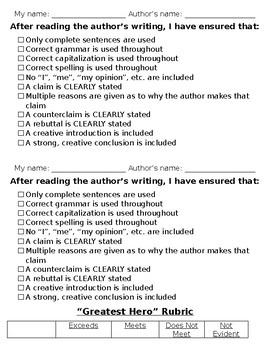 Hero Writing
