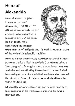 Hero of Alexandria Handout