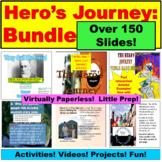 Hero's Journey Bundle:  Notes, Activities, Project, Free Presentation, MORE!