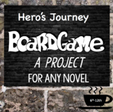 Hero's Journey Board Game, for ANY NOVEL,  Student Project, Independent Reading