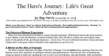 Hero's Journey Close Read