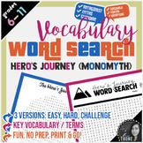 Hero's Journey Word Search