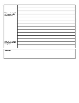 Hero's Journey and Archetypes Cornell Notes Template