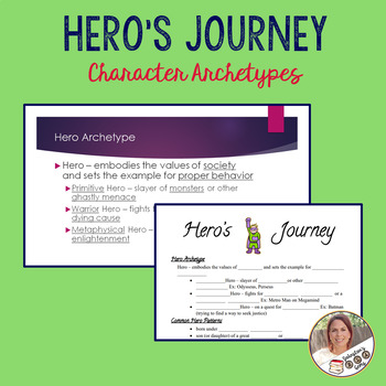 Hero's Journey Character Archetypes Notes and Powerpoint