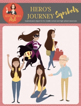 Hero's Journey graphics (starring a Hispanic female!)