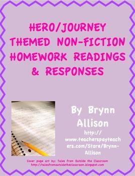 Hero/Journey Themed Nonfiction Readings & Responses