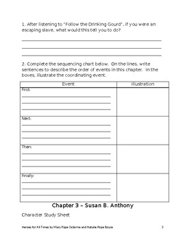 Heroes For All Times student packet