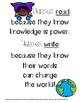 Heroes Read and Write Poster Hero School Theme Classroom Decor