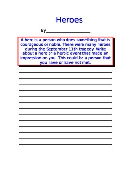 Heroes Sept. 11 Writing