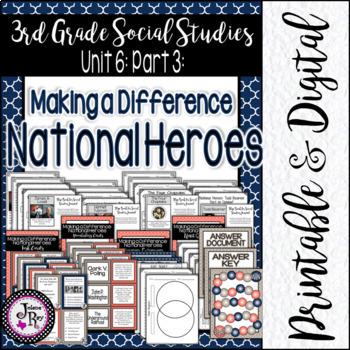 Heroes: 3rd Grade Social Studies Unit 6: TEKS 3.14A & 3.14B