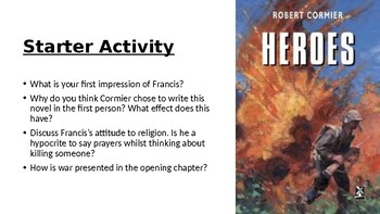 Heroes by Robert Cormier: (2) Chapter 2