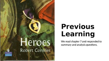 Heroes by Robert Cormier: (8) Chapter 8