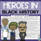 Black History Reading Comprehension: Harriet Tubman, Thurgood Marshall, Carver