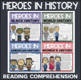 Heroes in History Reading Comprehension Bundle