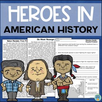 Heroes in United States History: Cesar Chavez, Benjamin Franklin, Squanto