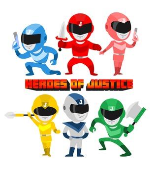 Heroes of Justice Space Ninja Cute Clip Art