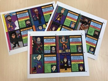 Superheroes of the Renaissance Cartoon Trading Cards (12 Cards Total)