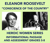 Heroic Women: Eleanor Roosevelt (Informational Passage and Assessment)