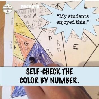 Heron's Formula Color by Number Activity for Solving Non-right Triangles