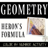 Trigonometric Functions Heron's Formula Activity Color by Number
