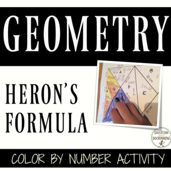 Heron's Formula Color by Number Activity for Solving Non-r