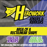 Herowork - Area of Rectilinear Shapes - Hedgehog Mystery Pic and Remote Joke