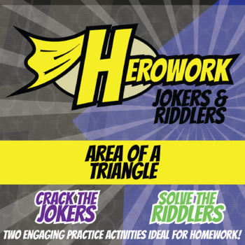 Herowork - Area of Triangles - Wright Brothers Mystery Pic and Velcro Joke
