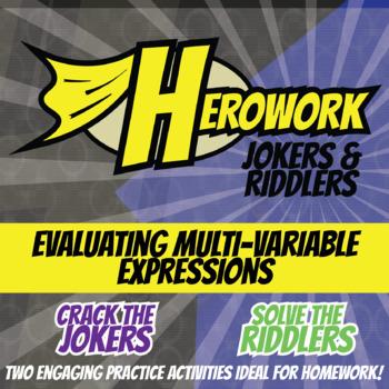 Herowork - Evaluating Expression Multi-Variable - Pirate Mystery & Skeleton Joke