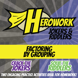 Herowork - Factoring by Grouping - Aztec Jaguar Mystery Pic and Sailboat Joke