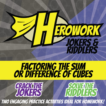 Herowork - Factoring the Sum or Difference of Cubes - Wombat and Elevator Joke